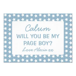 """Usted será mis estrellas azules del muchacho de la invitación 5"""" x 7"""""""