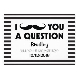 """Usted será mis rayas negras del bigote del invitación 5"""" x 7"""""""