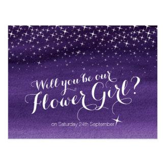 Usted será nuestro boda estrellado del cielo del tarjeta postal