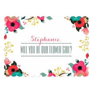 """¿Usted será nuestro florista? Invitaciones de Invitación 5"""" X 7"""""""