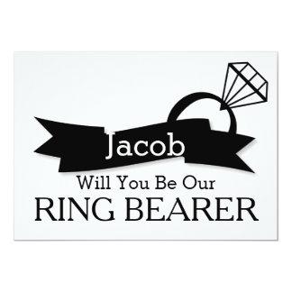 """Usted será nuestro portador de anillo invitación 5"""" x 7"""""""