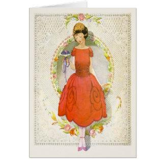 Usted sería mi criada de la petición del vintage tarjeta de felicitación