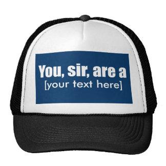 Usted, sir, es a [puesta su propio texto!] gorros bordados