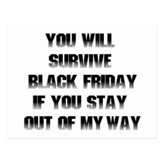 Usted sobrevivirá viernes negro si ...... tarjetas postales