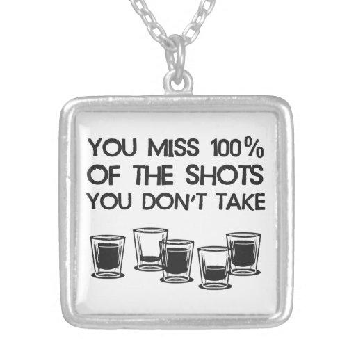 Usted Srta. 100% de los tiros que usted no toma Colgante Cuadrado