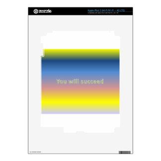 usted tendrá éxito iPad 3 skin