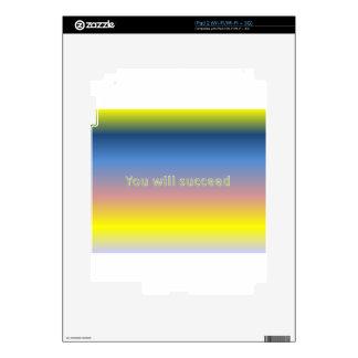 usted tendrá éxito skin para el iPad 2