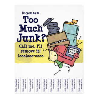 ¿Usted tiene demasiados desperdicios? Aviador Tarjetas Informativas