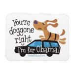 ¡Usted tiene doggone razón yo está para Obama! Imán Flexible