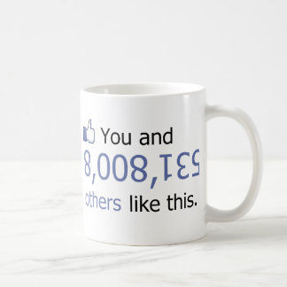Usted tiene gusto de 8008135 pulgares para arriba tazas