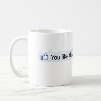 usted tiene gusto de los pulgares de este Facebook Tazas De Café