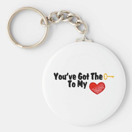Usted tiene la llave a mi corazón llavero redondo tipo pin