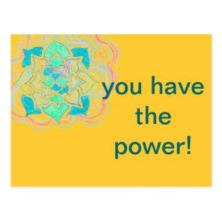 Usted tiene la postal del poder