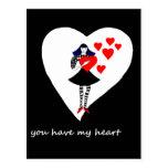 Usted tiene mi corazón postal