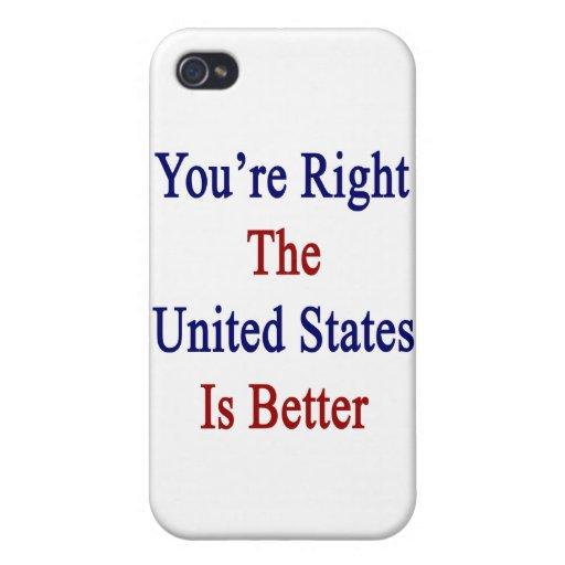 Usted tiene razón los Estados Unidos es mejor iPhone 4 Cobertura