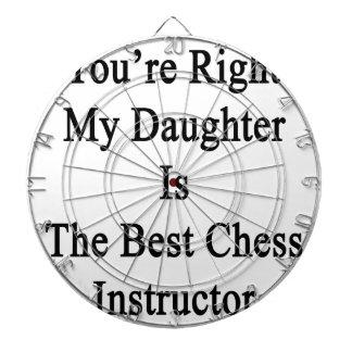 Usted tiene razón mi hija es el mejor ajedrez Inst Tablero Dardos