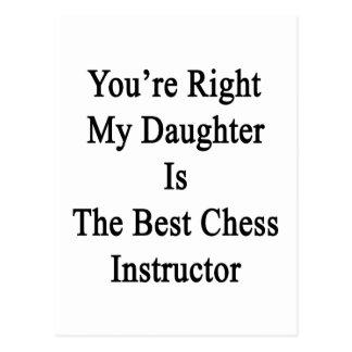 Usted tiene razón mi hija es el mejor ajedrez Inst Postales