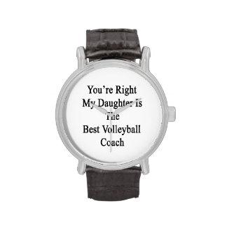 Usted tiene razón mi hija es el mejor voleibol Co Reloj De Mano
