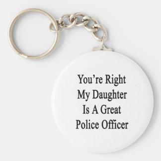 Usted tiene razón mi hija es gran oficial de polic llaveros