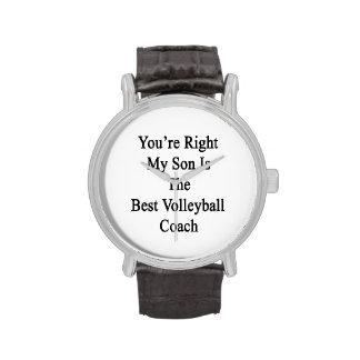 Usted tiene razón mi hijo es el mejor coche del reloj de mano