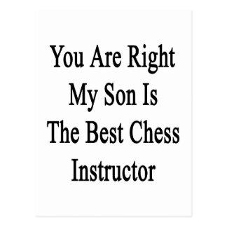 Usted tiene razón mi hijo es el mejor instructor d postales