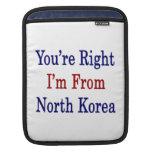Usted tiene razón que soy de Corea del Norte Mangas De iPad