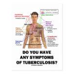 ¿Usted tiene síntomas de la tuberculosis? Postal