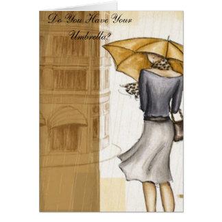 Usted tiene su paraguas tarjetas