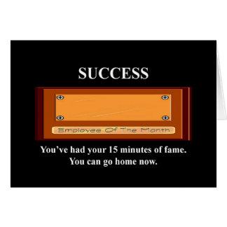 usted tiene - tarjeta de felicitación