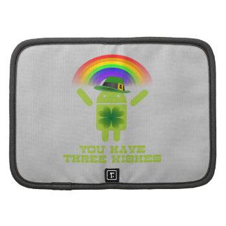 Usted tiene tres deseos el arco iris androide de planificador