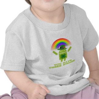 Usted tiene tres deseos (el arco iris androide de  camisetas