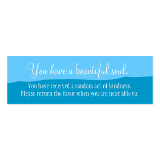 Usted tiene un alma hermosa tarjeta de visita