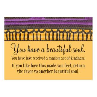 Usted tiene un alma hermosa tarjeta de negocio