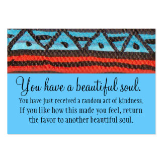 Usted tiene un alma hermosa tarjetas de negocios
