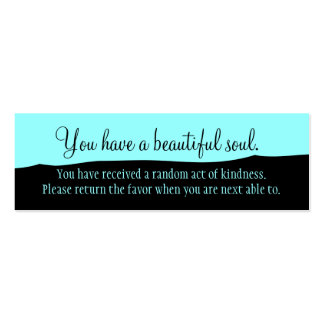 Usted tiene un alma hermosa plantillas de tarjetas personales