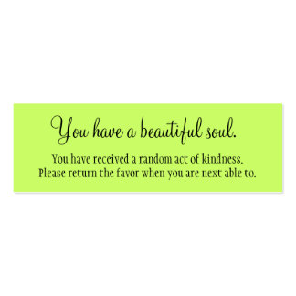 Usted tiene un alma hermosa tarjetas de visita
