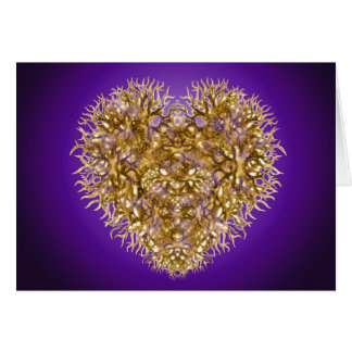 Usted tiene un corazón de oro tarjeta de felicitación