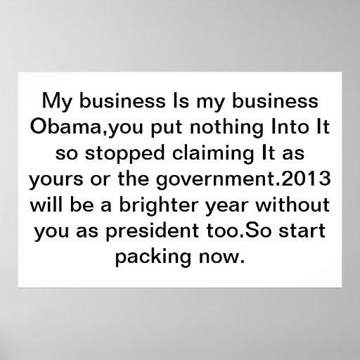 Usted tiene un negocio impresiones