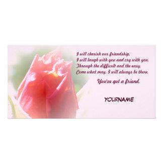 Usted tiene una amistad del amigo tarjeta fotográfica