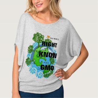 Usted tiene una derecha de saber si es GMO Playeras