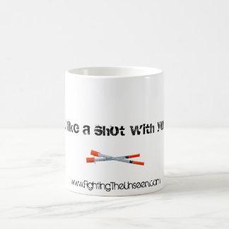 ¿Usted tienen gusto de un tiro con su café? Taza Mágica
