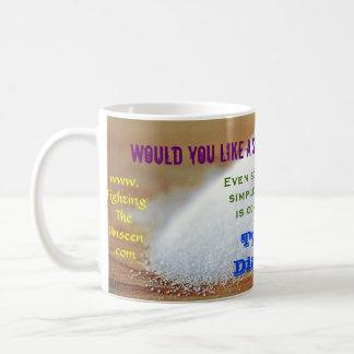 ¿Usted tienen gusto de un tiro con su café? Taza Básica Blanca