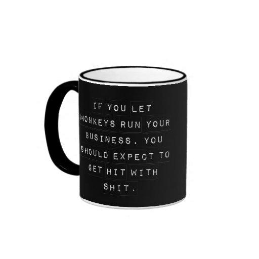 Usted trajo esta mierda en sí mismo taza de café