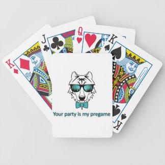 Usted va de fiesta es mi pregame baraja de cartas