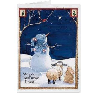Usted ve lo que veo - tarjeta de Navidad