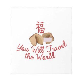 Usted viajará bloc