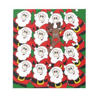 ¿Usted vio a Rudolph? Bloc De Notas