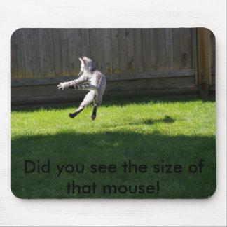 Usted vio el tamaño de ese ratón tapete de ratones