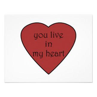 Usted vive en mi corazón anuncio