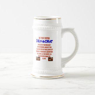 USTED VOTÓ TAN DEMOCTAT TAZAS DE CAFÉ